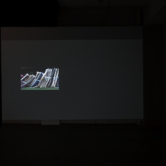 Installation view, Memorizing, loop projection, 6 images